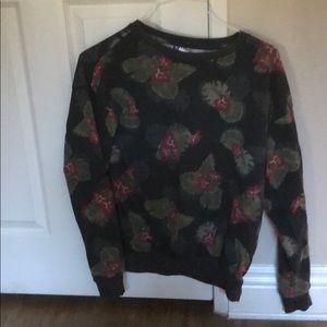 H&M Dividend Floral Crewneck Sweater